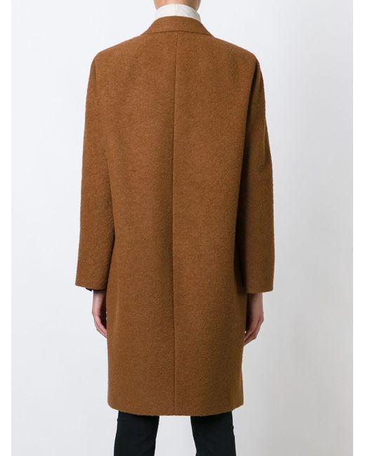 Двубортное Пальто Alberto Biani                                                                                                              коричневый цвет
