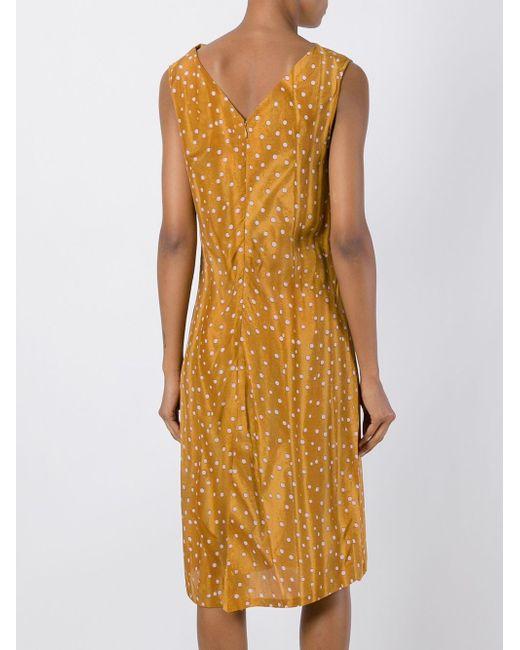 Asymmetric Wrap Dress Kenzo                                                                                                              желтый цвет