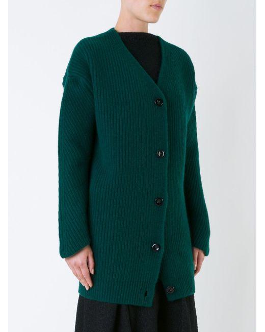 Кардиган Крупной Вязки Nina Ricci                                                                                                              зелёный цвет