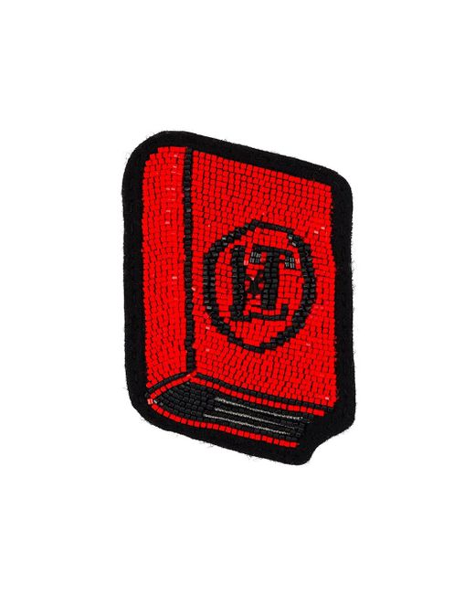Брошь Book Olympia Le-Tan                                                                                                              красный цвет