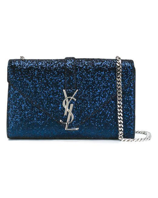 Сумка-Сэтчел Monogram Saint Laurent                                                                                                              синий цвет