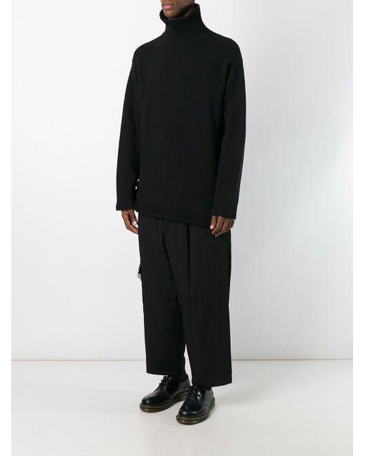 Широкие Брюки Yohji Yamamoto                                                                                                              чёрный цвет