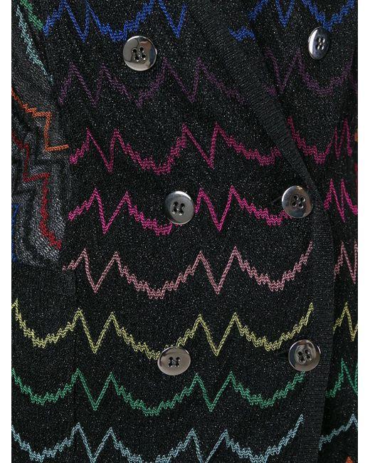 Двубортный Блейзер С Вышивкой Missoni                                                                                                              чёрный цвет