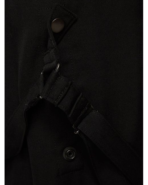 Укороченные Брюки Yohji Yamamoto                                                                                                              чёрный цвет