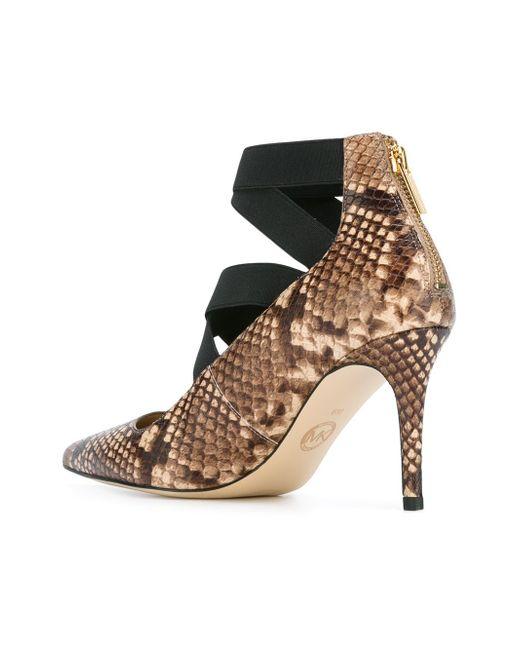 Туфли С Эффектом Змеиной Кожи Michael Michael Kors                                                                                                              коричневый цвет