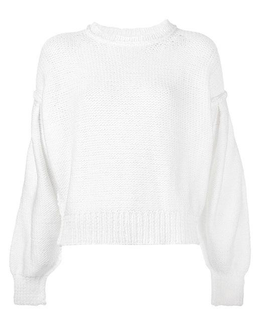 Свитер Свободного Кроя MM6 by Maison Margiela                                                                                                              белый цвет