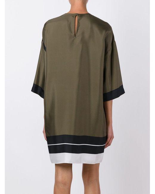 Свободное Платье Мини No21                                                                                                              зелёный цвет