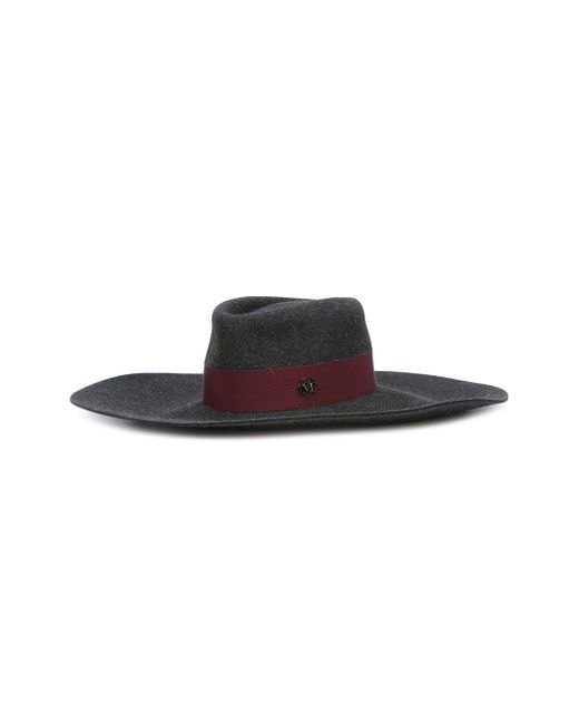 Широкополая Шляпа Maison Michel                                                                                                              серый цвет