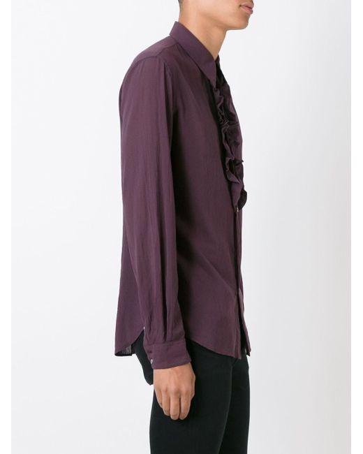 Рубашка С Оборками Roberto Cavalli                                                                                                              розовый цвет