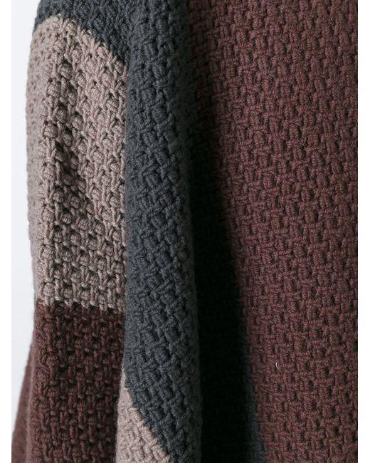 Asymmetric Cardigan Rick Owens                                                                                                              коричневый цвет