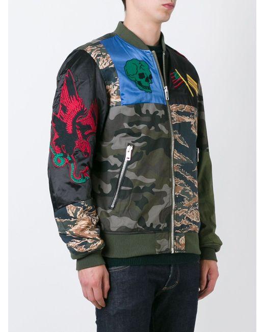 Камуфляжная Куртка Бомбер Diesel                                                                                                              зелёный цвет