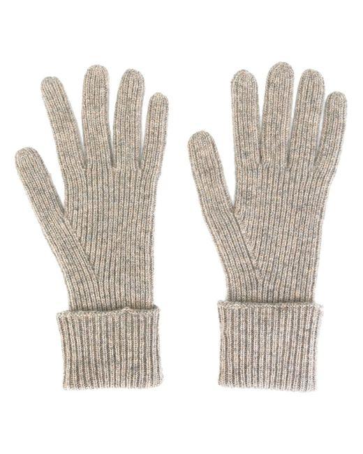 Перчатки Ladies Ребристой Вязки N.PEAL                                                                                                              Nude & Neutrals цвет
