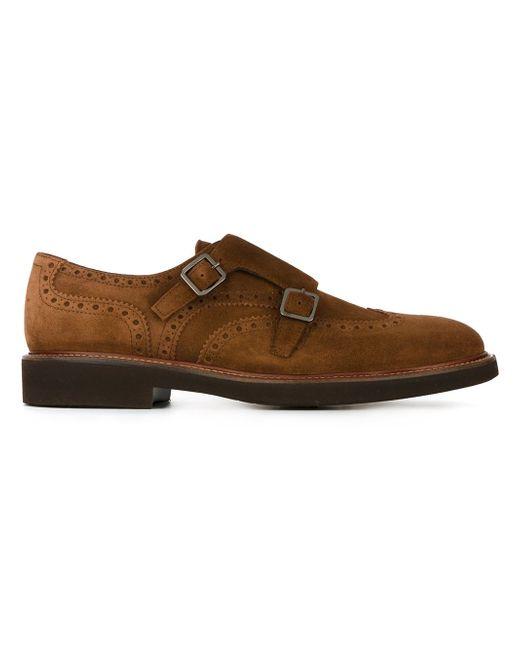 Classic Monk Shoes Canali                                                                                                              коричневый цвет