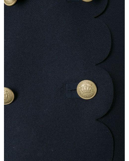 Двубортное Пончо Red Valentino                                                                                                              синий цвет