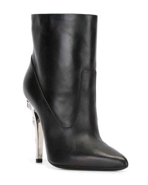 Ботинки С Заклепками На Каблуке Versus                                                                                                              чёрный цвет