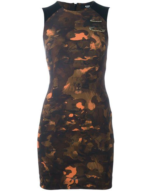 Camouflage Print Fitted Dress Versus                                                                                                              чёрный цвет
