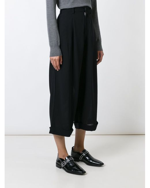 Cropped Wide Leg Trousers YOHJI YAMAMOTO VINTAGE                                                                                                              чёрный цвет