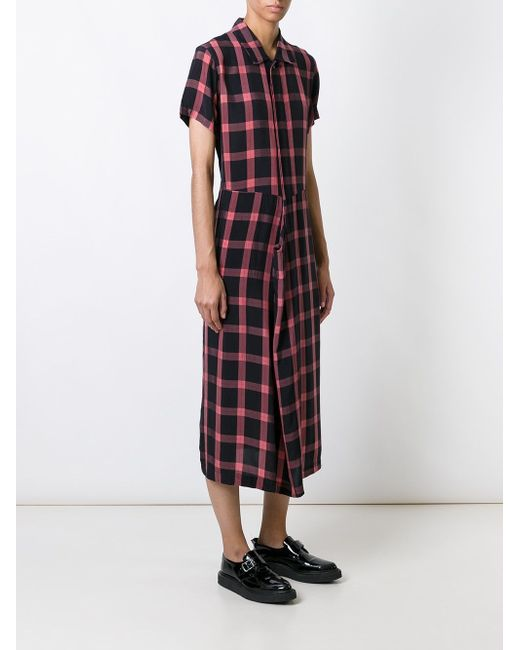 Платье-Рубашка В Клетку Comme Des Garcons                                                                                                              чёрный цвет