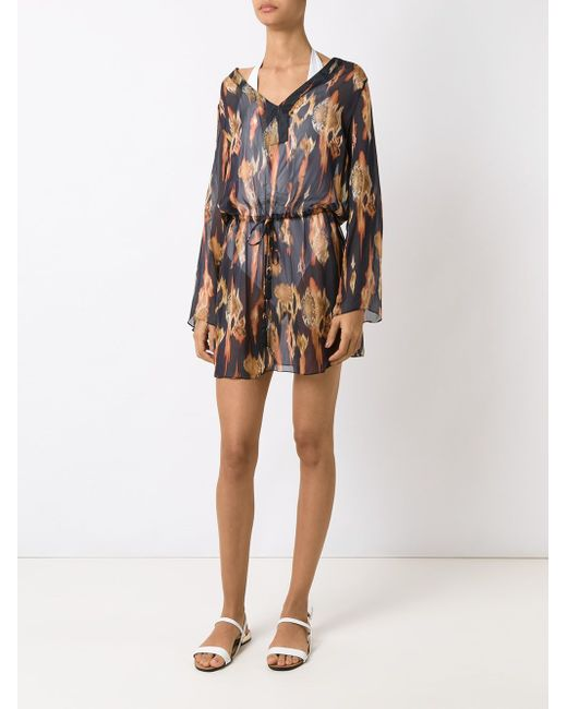 Printed Beach Dress Brigitte                                                                                                              синий цвет