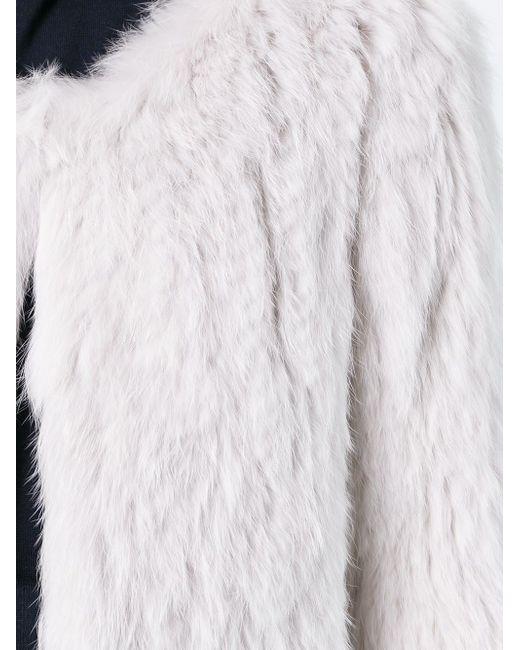 Укорчоенная Куртка Yves Salomon                                                                                                              Nude & Neutrals цвет