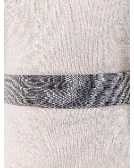 Belted Turtleneck Knitted Top Brunello Cucinelli                                                                                                              Nude & Neutrals цвет