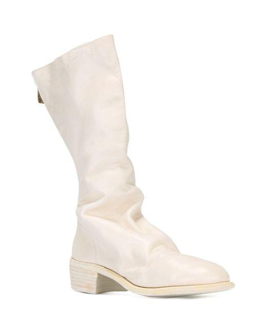 Сапоги На Молнии GUIDI                                                                                                              белый цвет