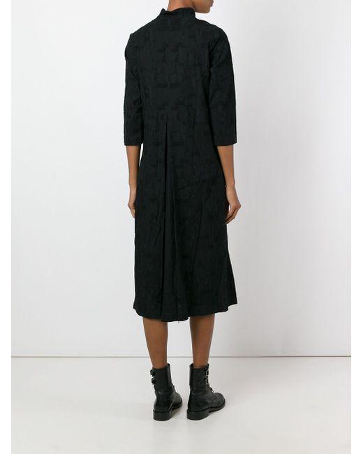 Three-Quarter Sleeve Shirt Dress INDIVIDUAL SENTIMENTS                                                                                                              чёрный цвет