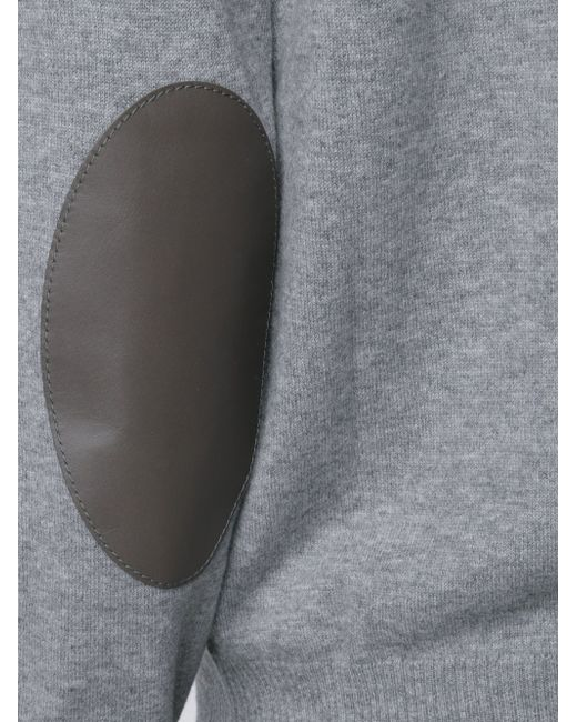 Elbow Patch Cardigan Maison Margiela                                                                                                              серый цвет