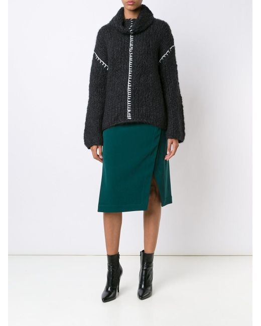 Wrap Skirt Altuzarra                                                                                                              серый цвет