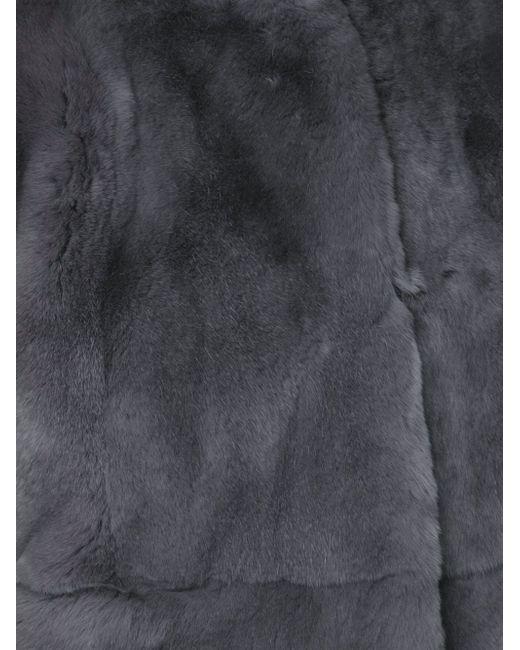 Cropped Fur Jacket Marni                                                                                                              серый цвет