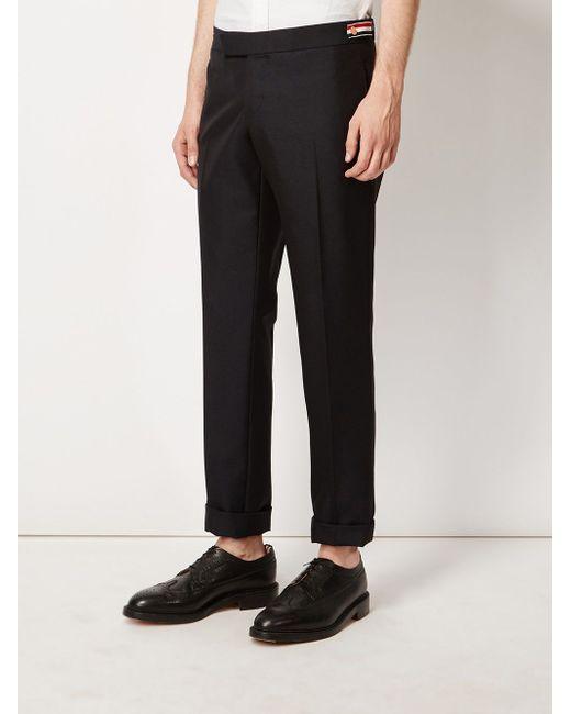 Side Tab Trousers Thom Browne                                                                                                              синий цвет