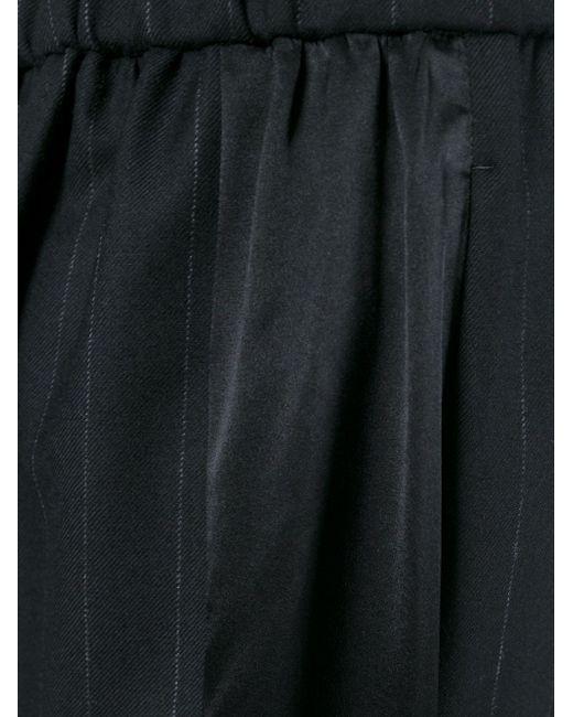 Расклешенные Брюки В Тонкую Полоску Y'S                                                                                                              чёрный цвет