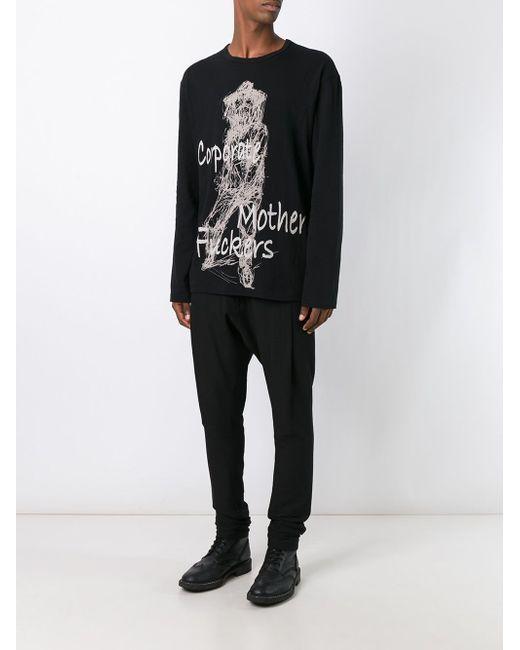 Scratched Sketch Sweatshirt Yohji Yamamoto                                                                                                              чёрный цвет