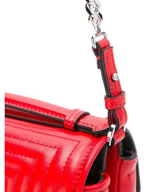 Micro Double Baguette Crossbody Bag Fendi                                                                                                              красный цвет