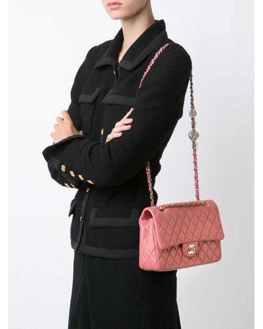 Средняя Сумка-Тоут Valentines Chanel Vintage                                                                                                              чёрный цвет