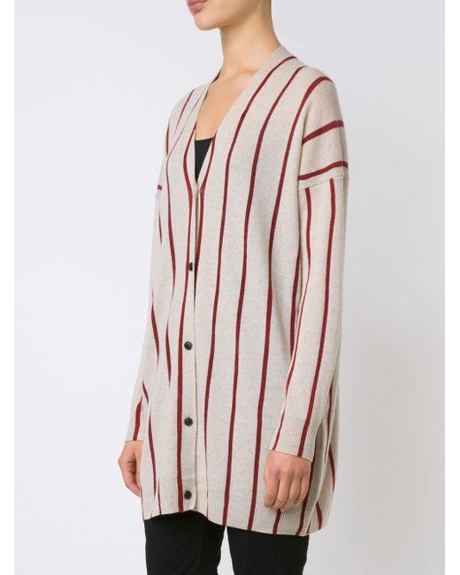 Striped V-Neck Cardigan UMA WANG                                                                                                              Nude & Neutrals цвет