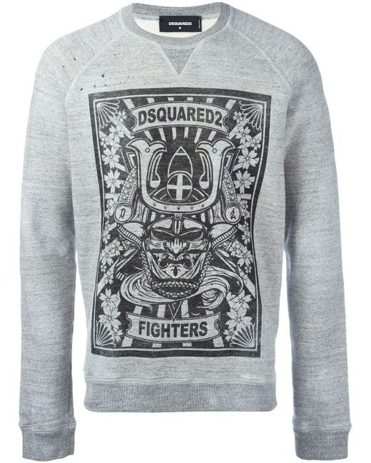Толстовка Fighters Dsquared2                                                                                                              серый цвет