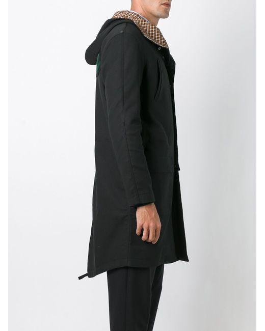 Пальто На Молнии С Капюшоном Raf Simons                                                                                                              чёрный цвет