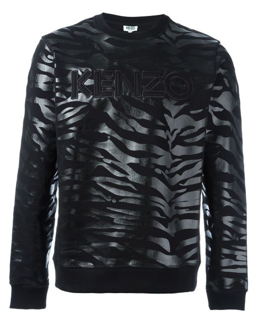 Толстовка Tiger Stripes Kenzo                                                                                                              чёрный цвет