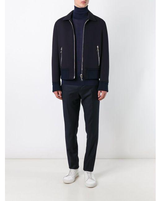 Tailored Slim Fit Trousers Lanvin                                                                                                              синий цвет