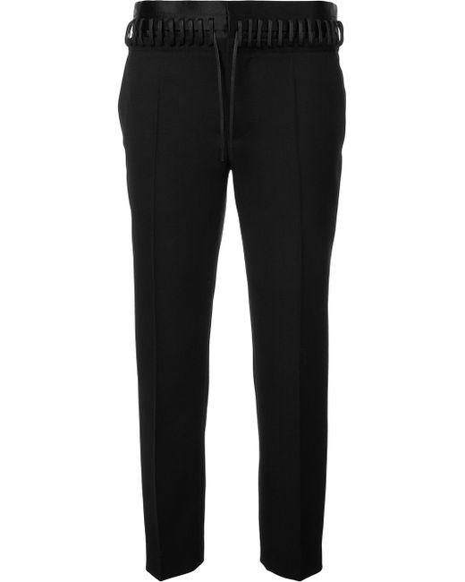 Whipstitch Waistband Trousers Haider Ackermann                                                                                                              чёрный цвет