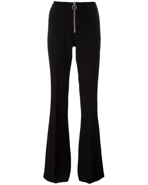 Zip Up Flared Trousers Marques Almeida                                                                                                              чёрный цвет