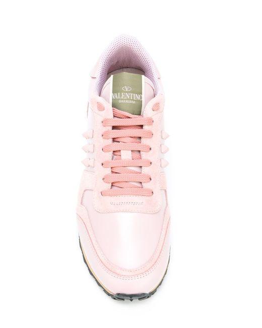 Кроссовки Rockrunner Valentino                                                                                                              розовый цвет