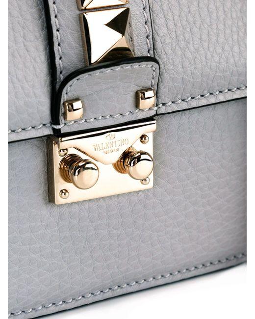 Сумка На Плечо Glam Lock Valentino                                                                                                              серый цвет
