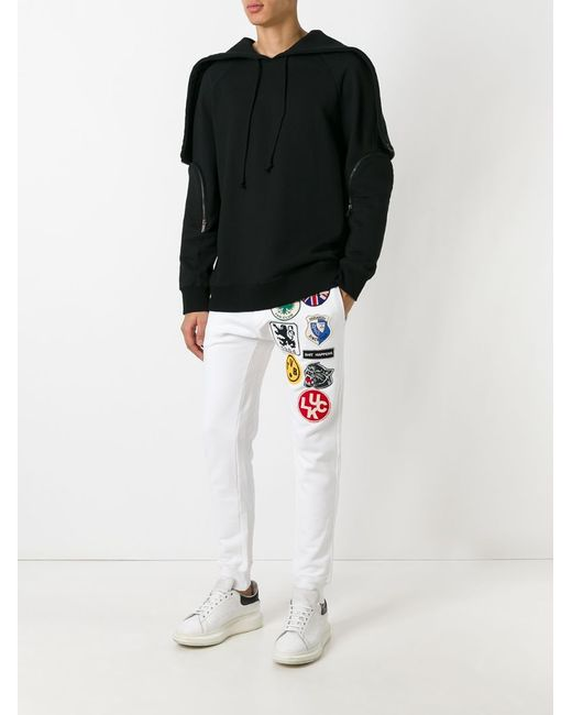 Embroidered Patched Track Pants Dsquared2                                                                                                              белый цвет