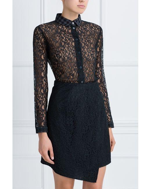Кружевная Блузка Carven                                                                                                              чёрный цвет