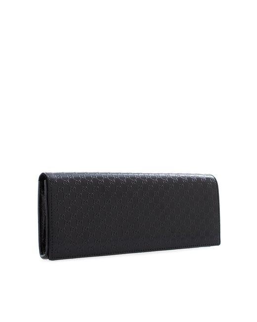 Клатч Из Лакированной Кожи Broadway Microssima Gucci                                                                                                              чёрный цвет