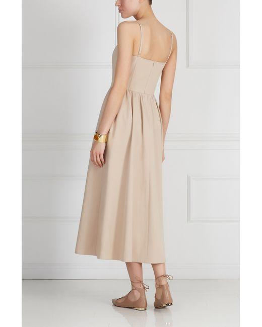 Хлопковое Платье A La Russe                                                                                                              Кремовый цвет