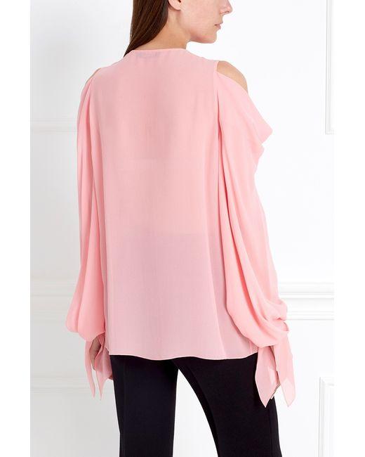 Шелковая Блузка Chapurin                                                                                                              розовый цвет