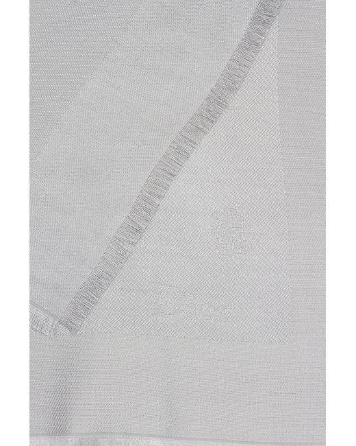 Шелковый Платок Dior Children                                                                                                              серый цвет